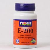 NOW Vitamine E-200 d-alpha Tocopherol