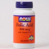 NOW Foliumzuur 800 mcg