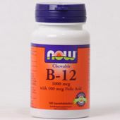 NOW Chewable  B-12 1000 MCG (kauwtabletten)