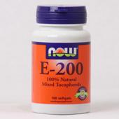NOW Vitamine E-200 Mixed Tocopherols