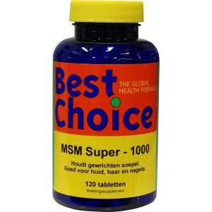 Best Choice MSM super 1000mg.