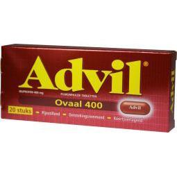 Advil 400MG Ovaal doordrukstrips