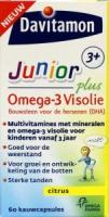 Davitamon Junior 3+ omega 3 visolie