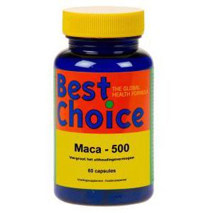 Best Choice Maca 500 mg. (Wortelpoeder)