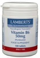 Lamberts Vitamine B6 50 mg (Pyridoxine)