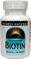 Source Naturals  Biotin 600mcg