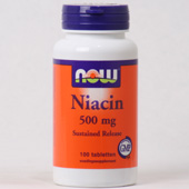 NOW Niacin  500 MG SUSTAINED RELEASE