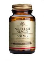 Solgar No-Flush Niacin (B-3) 500 mg vegetable capsules