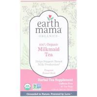 Earth Mama Earth Mama, Organics, 100% Organic Milkmaid Tea, Fragrant Fennel Herb, Caffeine Free, 16 theezakjes,