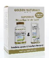 Golden Naturals Duoset scutellaria 60 caps / scutellaria neusspray