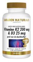 Golden Naturals Vitamine K2 200 mcg D3 25 mcg