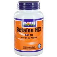 NOW Betaine HCI 648 mg