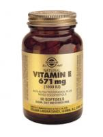 Solgar Vitamin E 671 mg (1000 IU) complex softgels