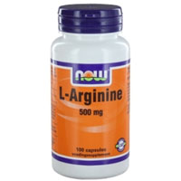 NOW L-Arginine 500 mg.