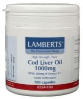 Levertraan (cod liver oil) 1000 mg.