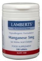 Lamberts Mangaan (manganese) 5 mg.