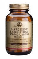 Solgar L-Arginine en L-Ornithine 500/250 mg