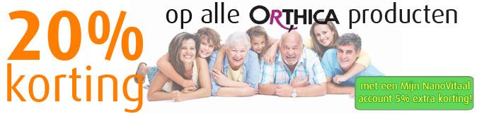20% korting op alle Orthica producten